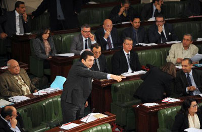 Tunisia lawmakers start debate on key step in democratic transition