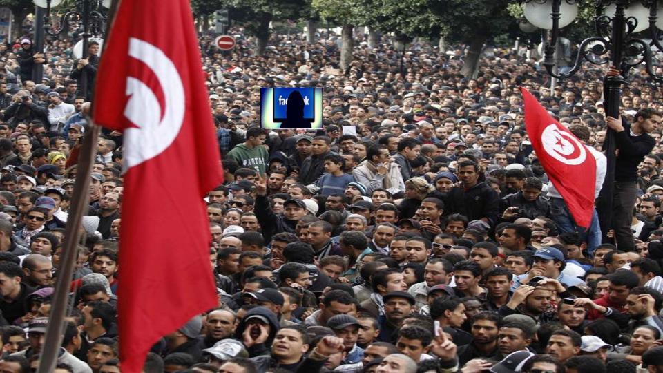 Tunisian protesters.